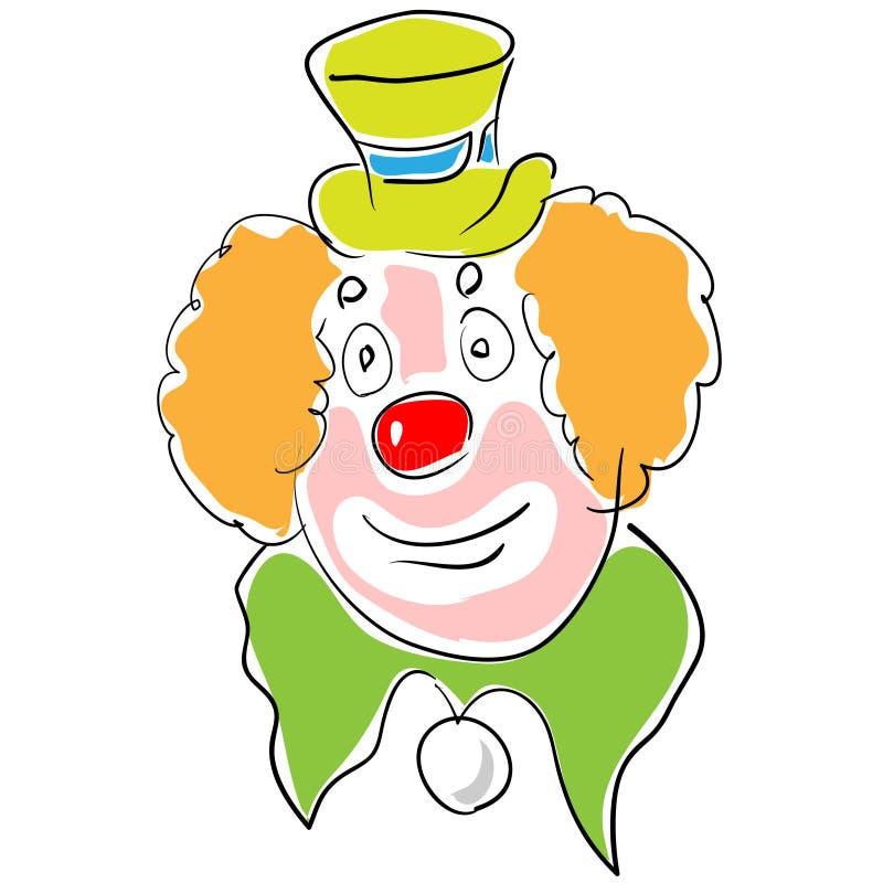 Zirkusschauspieler lizenzfreie abbildung