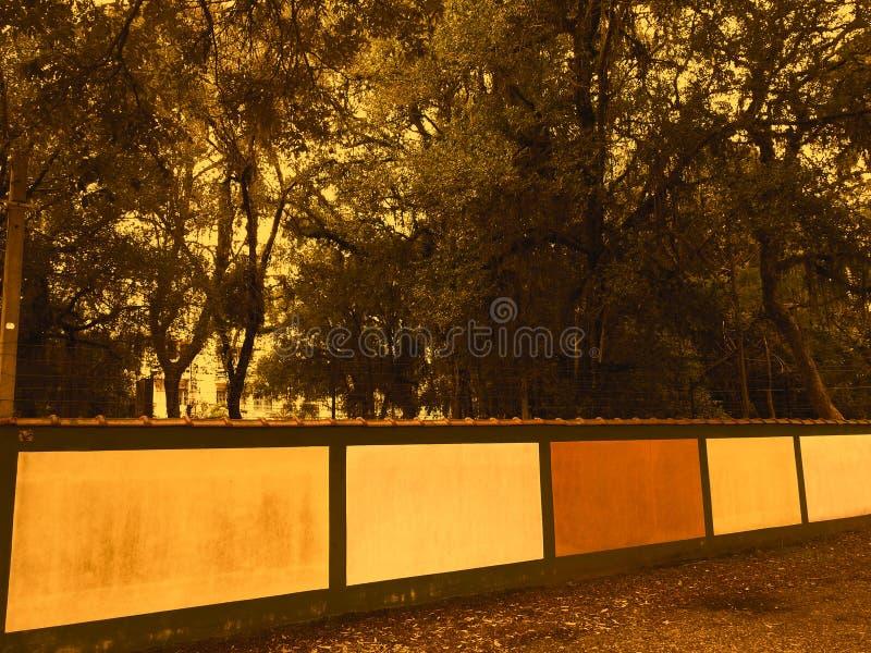 Zirytowana ściana los angeles Trattoria obraz stock