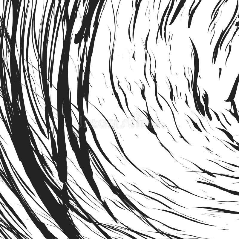 Zirytowana tekstura z chaotycznymi, przypadkowymi liniami, Abstrakcjonistyczny geometryczny illu ilustracji