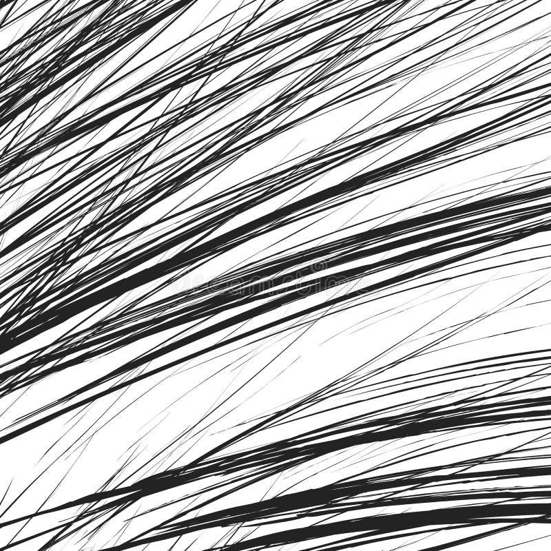 Zirytowana tekstura z chaotycznymi, przypadkowymi liniami, Abstrakcjonistyczny geometryczny illu royalty ilustracja