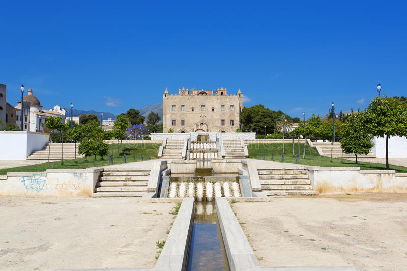 The Zisa Castle in Palermo, Sicily. Italy stock images