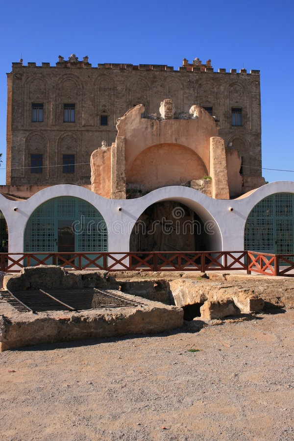 Download The ZiSa Palace ° Norman Arabic Architecture_ Sicily Royalty Free Stock Photography - Image: 1815107