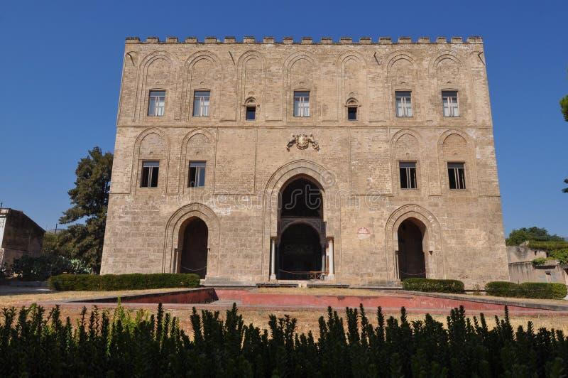 Zisa slott i Palermo royaltyfria bilder