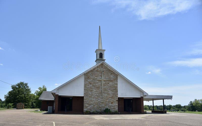 Zisternen-Hügel M B Kirchengebäude, Como, Mississippi lizenzfreie stockbilder