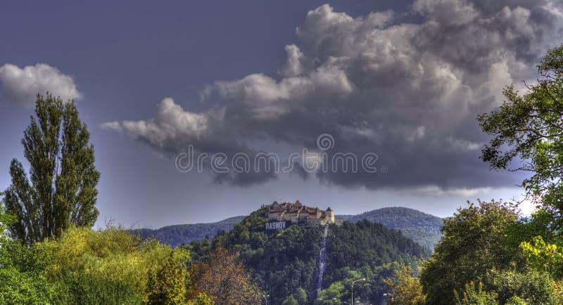 Zitadelle Panaromic RaÅŸnov stockfoto
