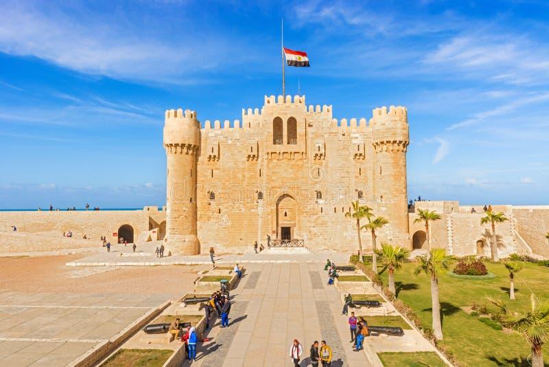 Zitadelle von Qaitbay-Festung, Alexandria, Ägypten stockfotos