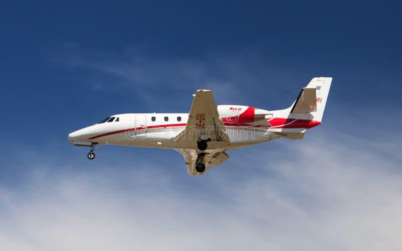 Zitat Excel Fliegen-Tirols Cessna 560XL stockbilder
