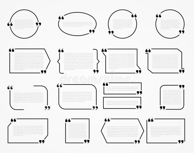 Zitat-Rahmen vektor abbildung. Illustration von sprichwort - 61632194