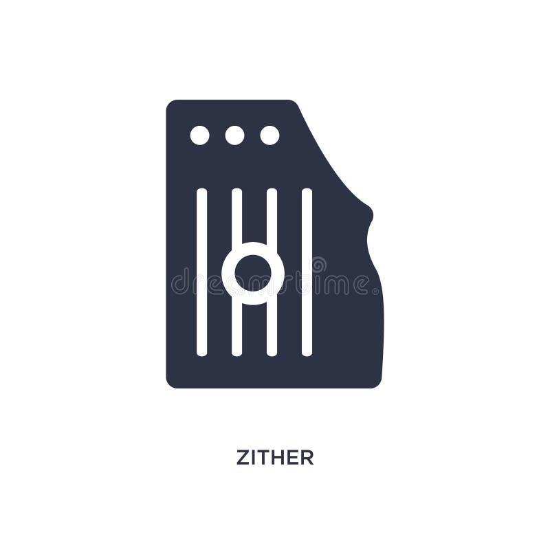 zither εικονίδιο στο άσπρο υπόβαθρο Απλή απεικόνιση στοιχείων από την έννοια μουσικής απεικόνιση αποθεμάτων
