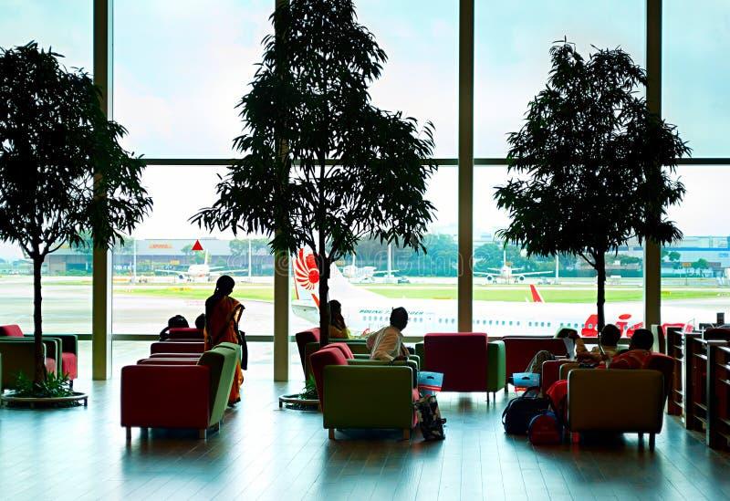 Zitkamer bij Changi Luchthaven royalty-vrije stock afbeelding