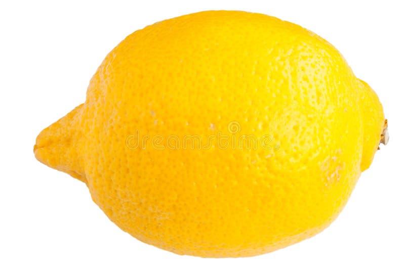 Zitrone auf dem Weiß stockfotografie