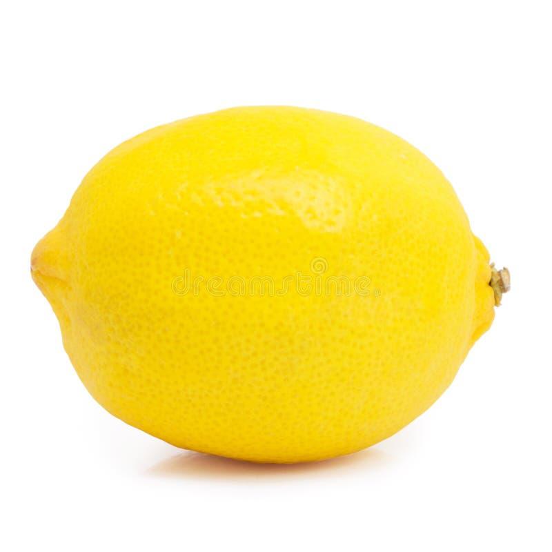 Zitrone auf weißem Hintergrund lizenzfreies stockfoto
