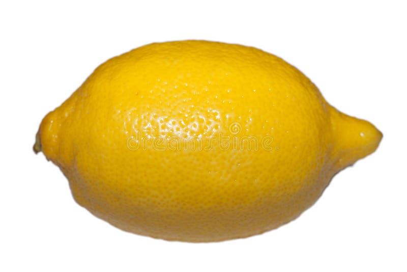 Zitrone auf weißem Hintergrund stockfoto