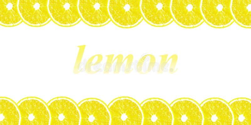 Zitrone halbiert Hintergrund mit Raum für Text auf einem weißen backgroun vektor abbildung