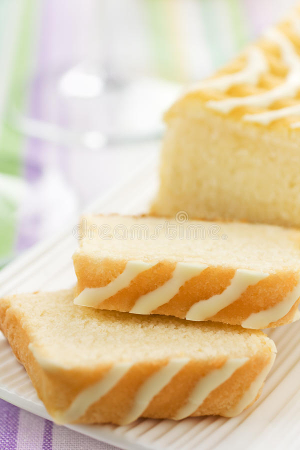 Zitrone-Kuchen stockbilder
