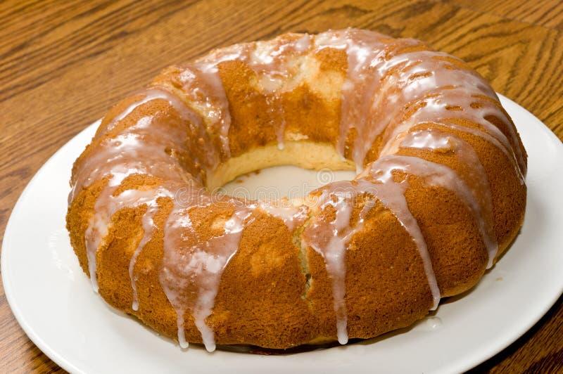Zitrone-Pound-Kuchen stockbild