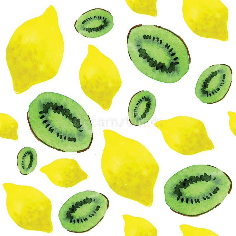 Zitrone und Kiwi stock abbildung