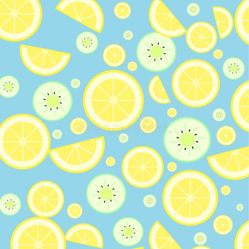 Zitrone und Kiwi lizenzfreie stockbilder