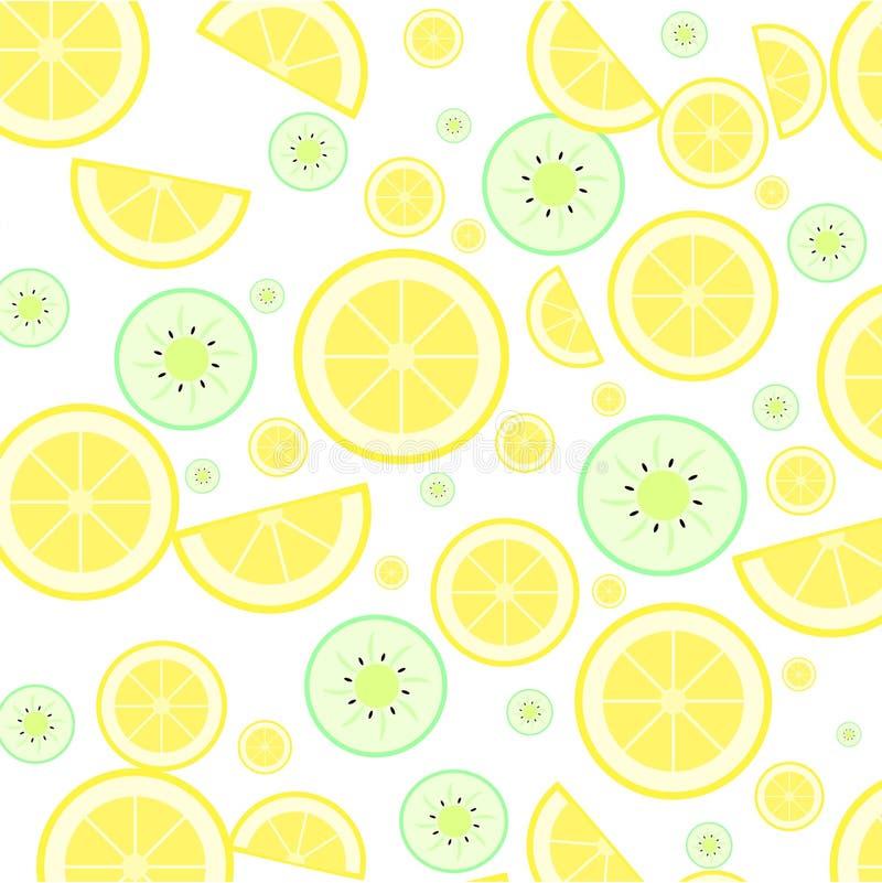Zitrone und Kiwi lizenzfreie abbildung