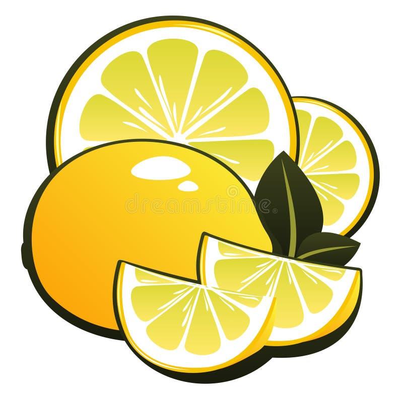 Zitrone und Scheiben vektor abbildung