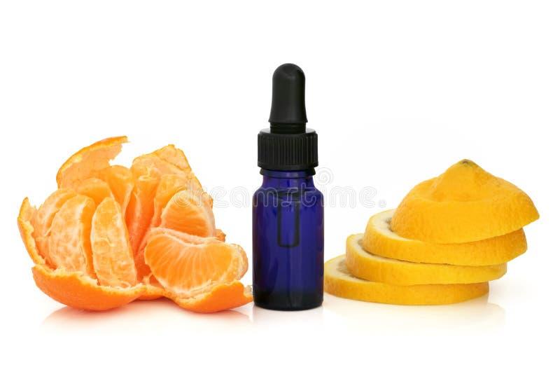 Zitrone-und Tangerine-Wesentliches lizenzfreie stockbilder