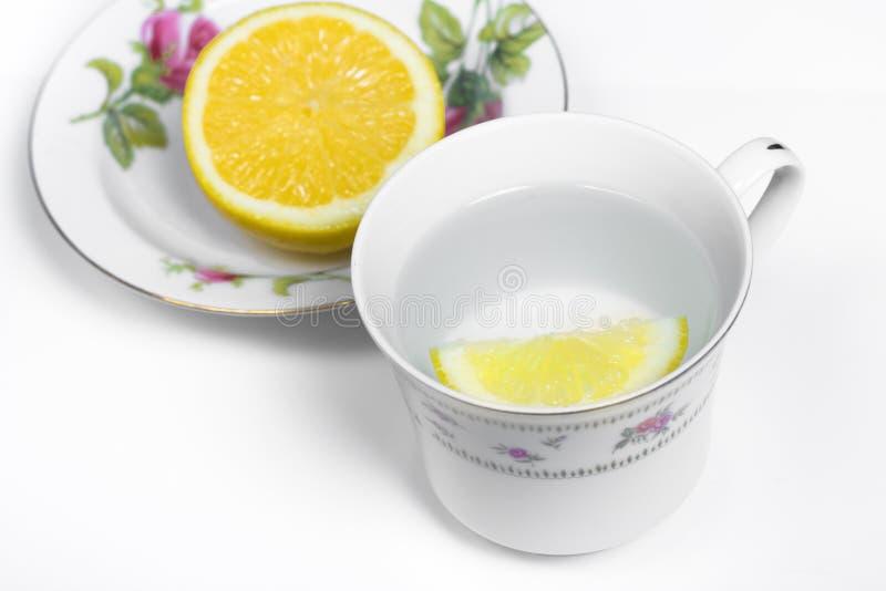 Zitrone-Wasser stockfoto
