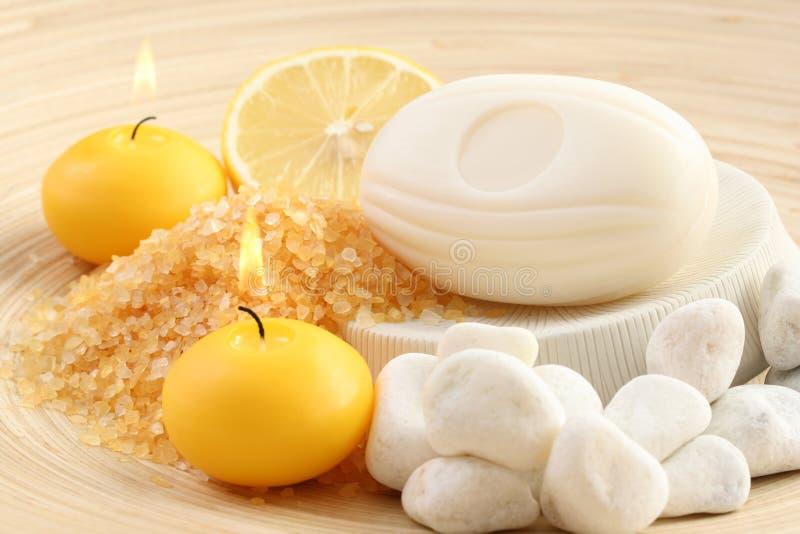 Zitronebad lizenzfreie stockfotos