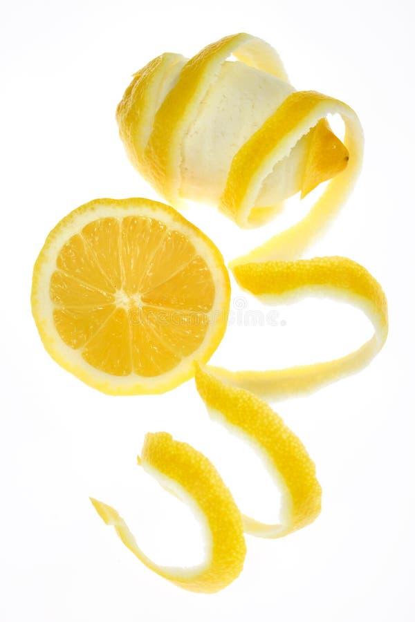Zitronefrucht getrennt auf Weiß lizenzfreie stockfotos