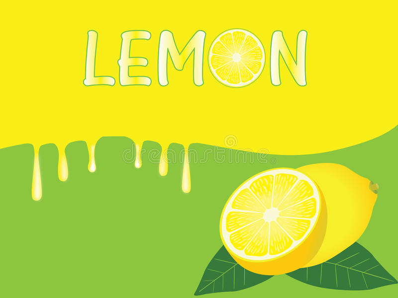 Zitronehintergrund stock abbildung