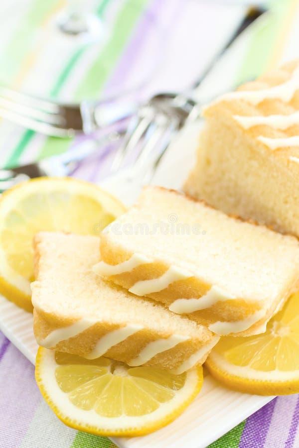 Zitronekuchen stockbilder