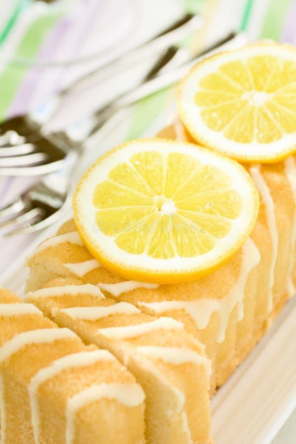 Zitronekuchen lizenzfreies stockbild