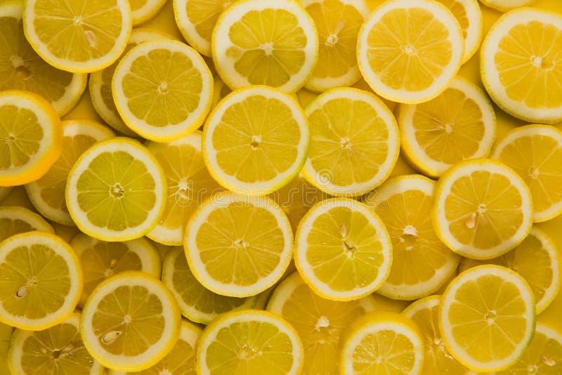 Zitronen cuted Hintergrund stockbilder