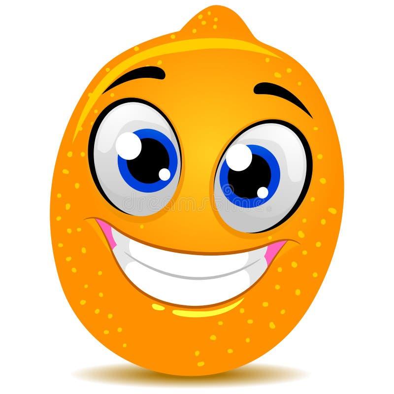 Zitronen-Maskottchen lizenzfreie abbildung