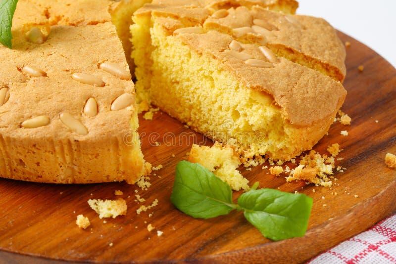 Zitronen-Schwamm-Kuchen lizenzfreie stockfotografie