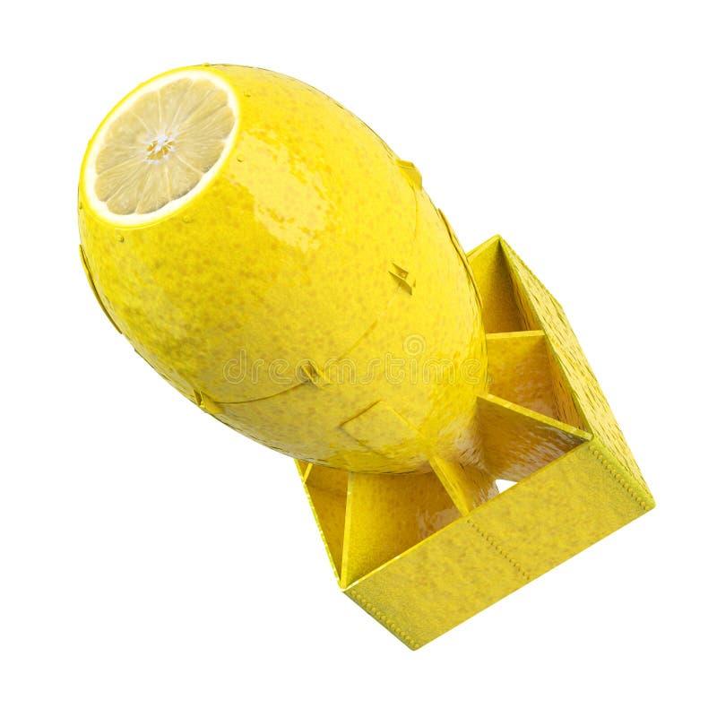 Zitronenbombenkonzept stockbilder