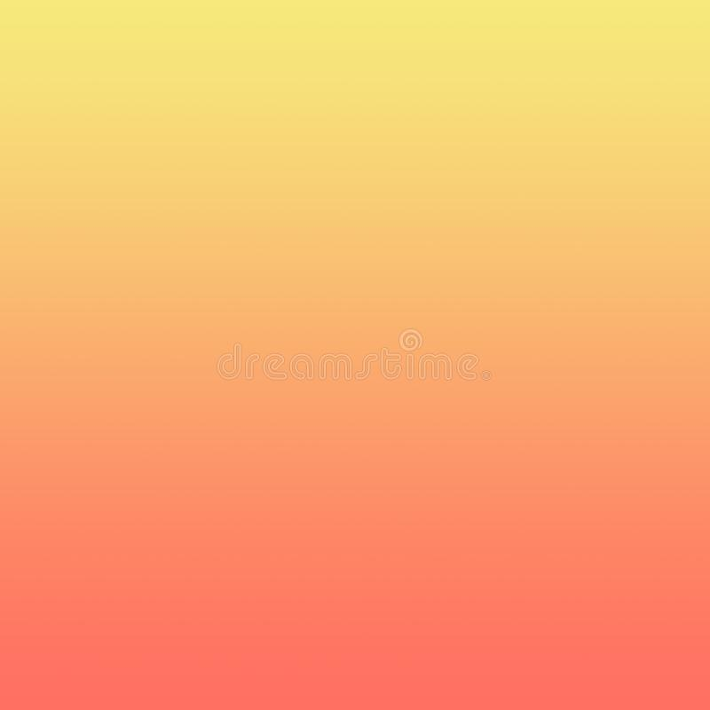 Zitronengelbe Coral Gradient Ombre Background lizenzfreie abbildung
