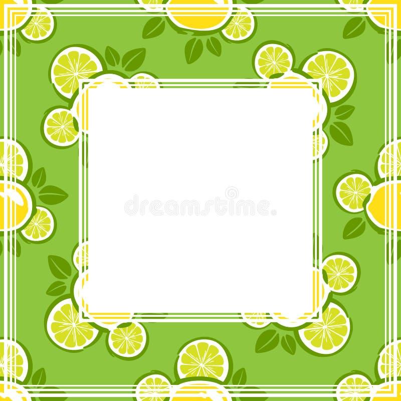 Zitronengrenze stock abbildung