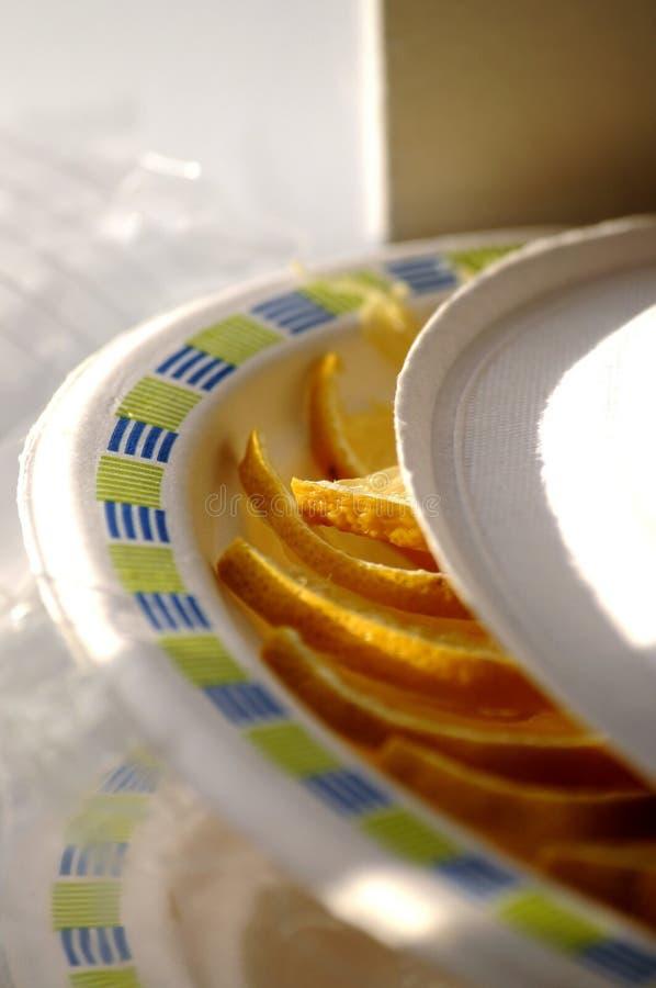 Zitronenplatte stockbilder