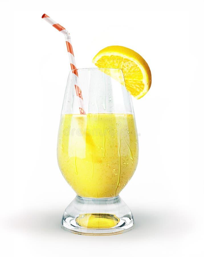 Zitronensaft in einem Glas mit Stroh und Nelke. stockbilder