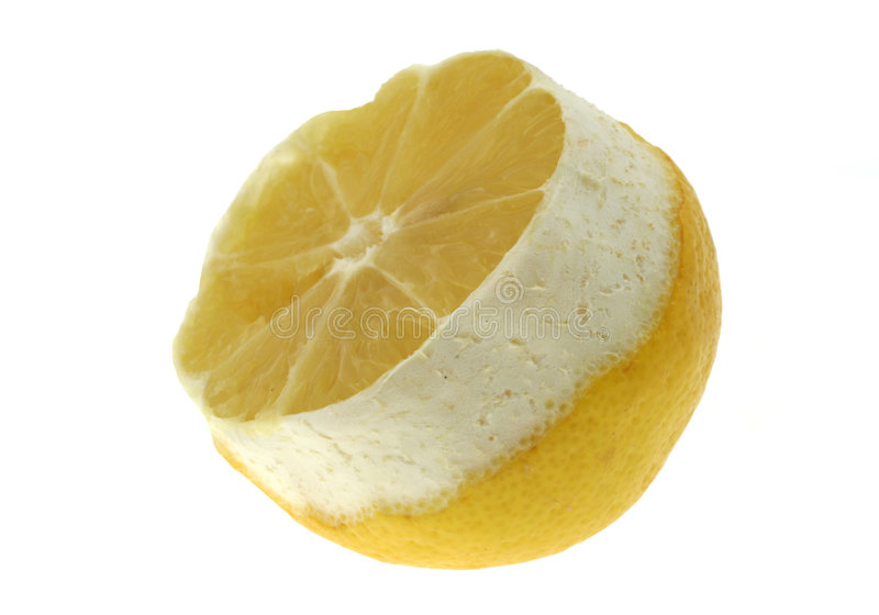 Zitroneprofil auf Weiß stockbilder