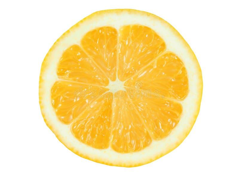 Zitronescheibe auf Weiß lizenzfreie stockbilder