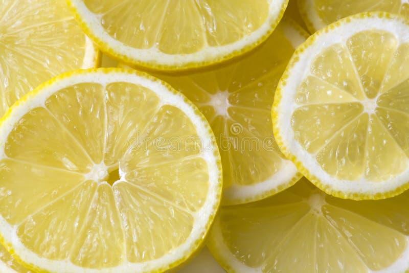 Zitronescheiben stockfoto