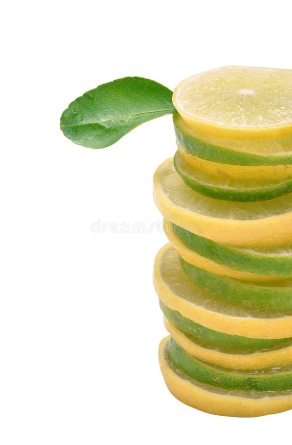 Zitronestapel stockfoto