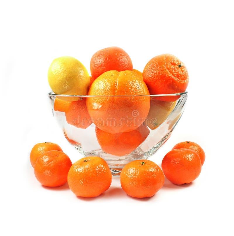 Zitrusfrucht getrennt lizenzfreies stockbild