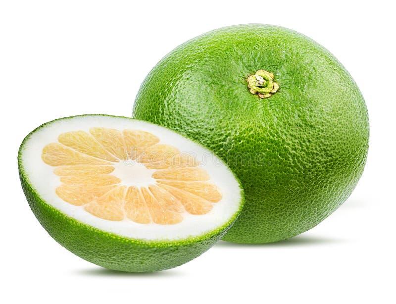 Zitrusfrucht-Herzchen oder Pomelit, oroblanco lokalisiert auf Weiß lizenzfreies stockbild