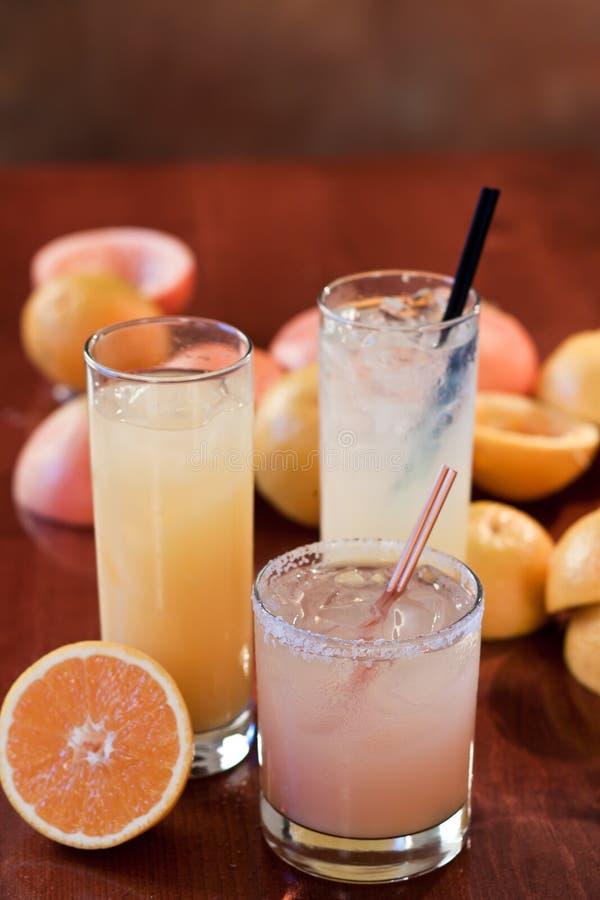 Zitrusfruchtcocktails stockfotografie
