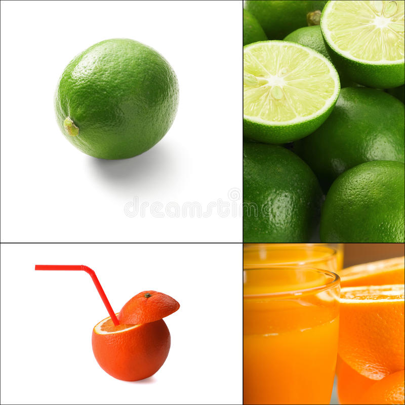 Zitrusfruchtcollage stockbild