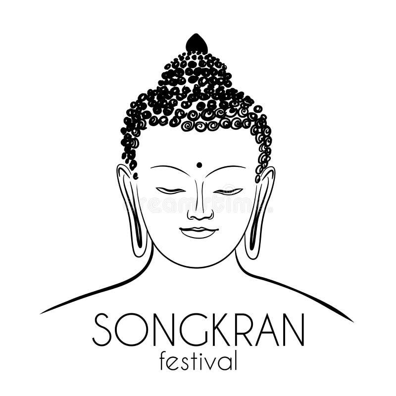 Zitting Budha bangkok thailand vector illustratie