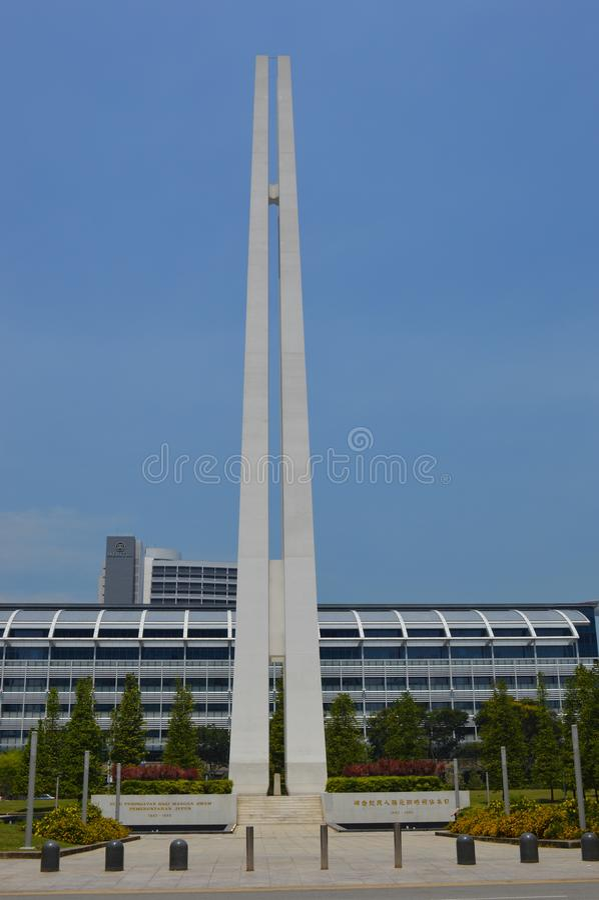 Zivilkriegs-Denkmal, Singapur, Asien stockfotografie