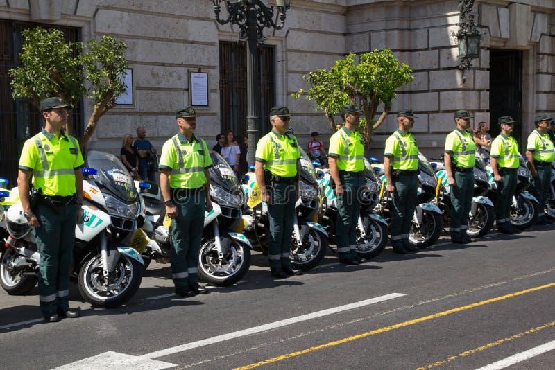 Ziviloffiziere Spaniens Guardia stockfoto